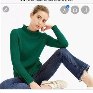 J Crew Rollneck Cotton Sweater
